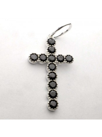 Cross with stone
