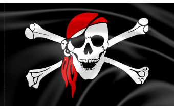 The origin of the pirate flag Jolly Roger